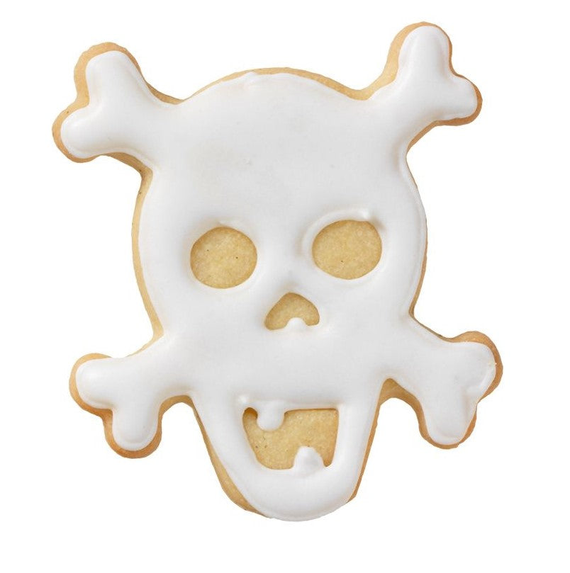 Skull and Crossbones Cookie Cutter with Embossed Detail | Cookie Cutter Shop Australia