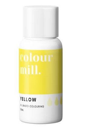 Colour Mill Yellow Oil Based Colouring 20ml  | Cookie Cutter Shop Australia