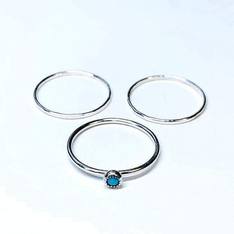 Classic Turquoise Ring Set - Renegade Jewelry