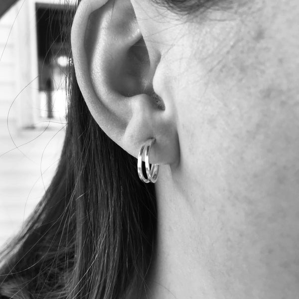 Double Hoop Studs - Renegade Jewelry