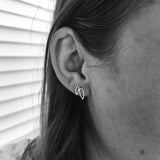 Double Leaf Stud Earrings
