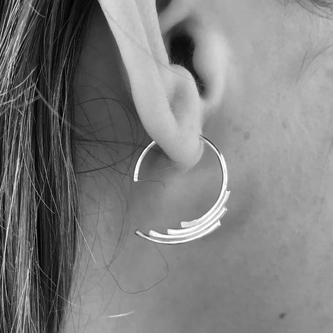Feathered Hoops - Renegade Jewelry