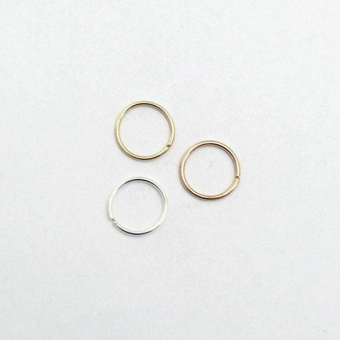 Set of Three Tri Color Septum Rings