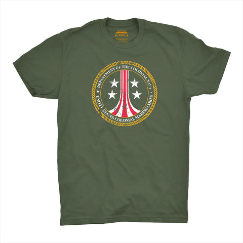 T-Shirt Colonial Marines - Military GreenAliens (1986) - Uber Torso
