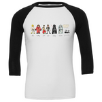 Doodle Series - Star Wars Family 3/4 Sleeve Baseball Tee