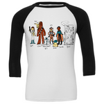 Doodle Series - Empire Strikes Back 3/4 Sleeve Baseball Tee
