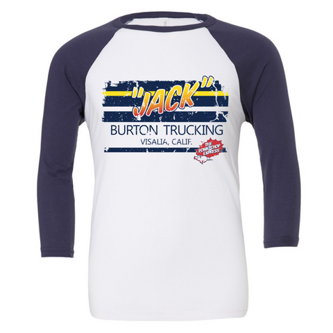 Jack Burton Trucking 3/4 Sleeve Baseball Tee