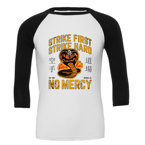 Cobra Kai 3/4 Sleeve Baseball Tee