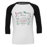 Little Nero's Pizza 3/4 Baseball Sleeve Tee
