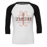 JF Sebastian Genetic Design (Grey) 3/4 Sleeve Baseball Tee