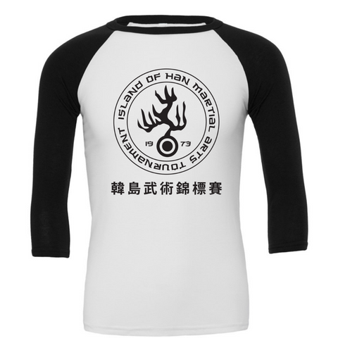 Han's Martial Arts Tournament 3/4 Sleeve Baseball Tee