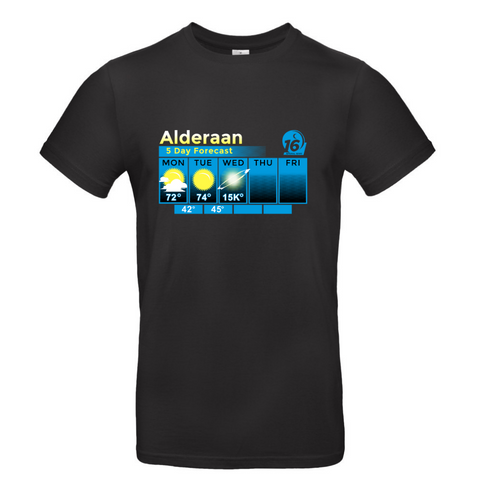 T-Shirt Alderaan Weather ForecastStar Wars (1977 - Present) - Uber Torso