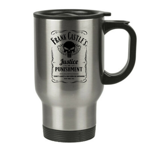 Frank Castle's Justice & Punishment Travel Mug