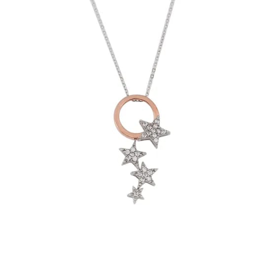 Moon & Star Pendant Necklace - Vintage Online Store