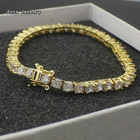 Luxury Dazzling Paved CZ Diamonds Stainless Steel Necklace - Vintage Online Store