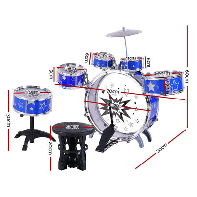 Keezi 11 Piece Kids Drum Set