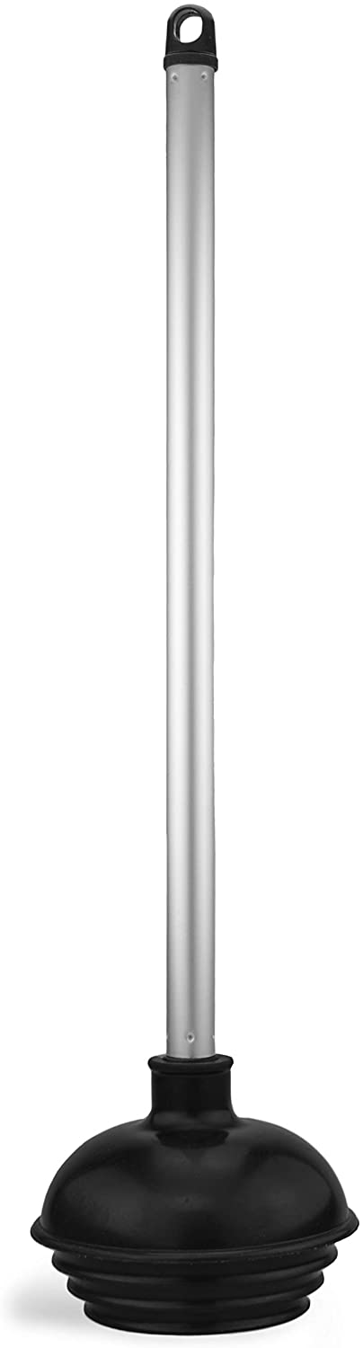 Neiko 60166A Toilet Plunger with Patented All-Angle Design | Heavy Duty | Aluminum Handle