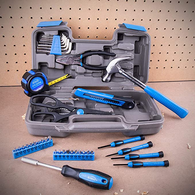 Original 39 Piece General Repair Hand Tool Set with Tool Box Storage Case