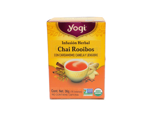 Infusión herbal Chai Rooibos Yogi
