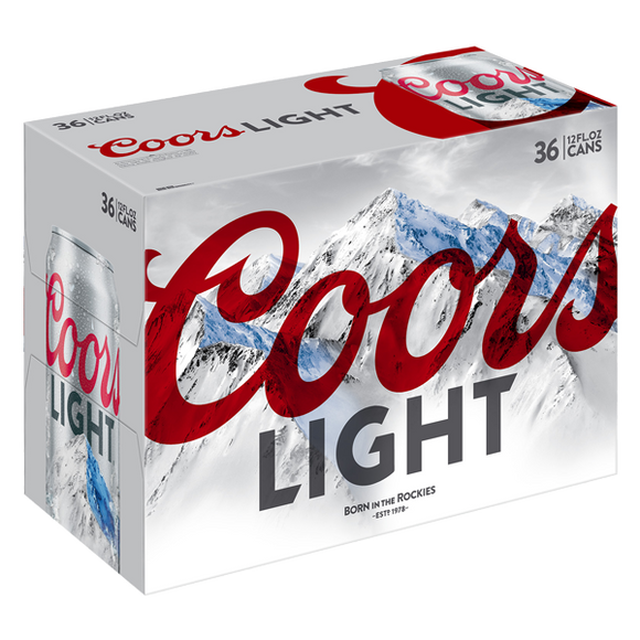 Coors Light - 36PK CANS - uptownbeverage