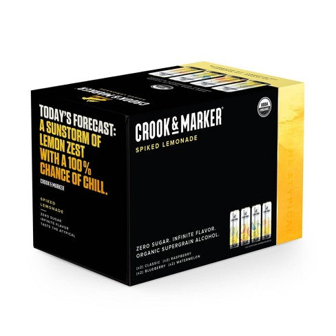 Crook & Marker - Lemonade 8PK CANS - uptownbeverage