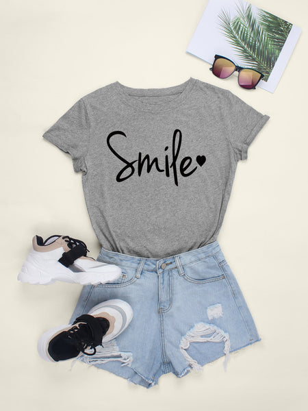 Letter And Heart Graphic Tee