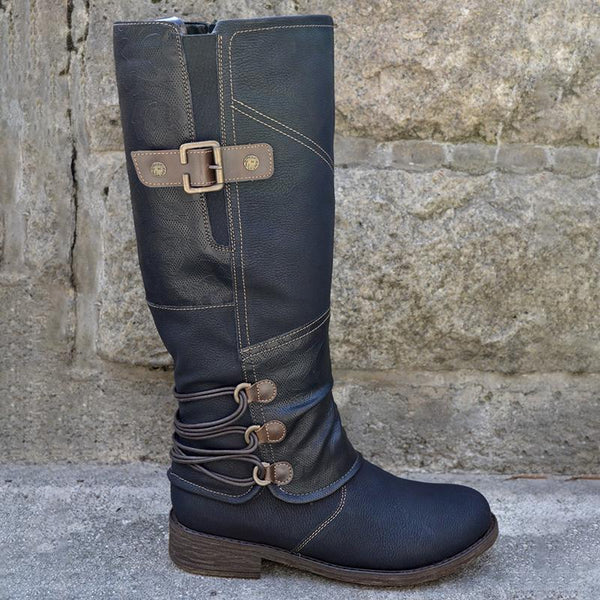 2020 Women Autumn & Winter Vintage Leather Zipper High Boots