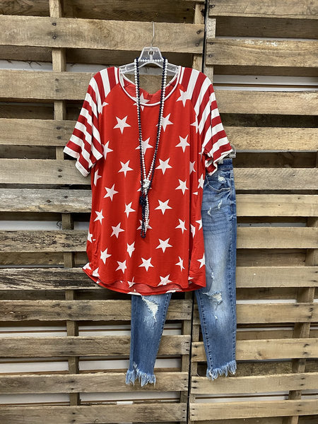 2020 Hot Sale Stars Stripe Independence Day Memorial T-shirt