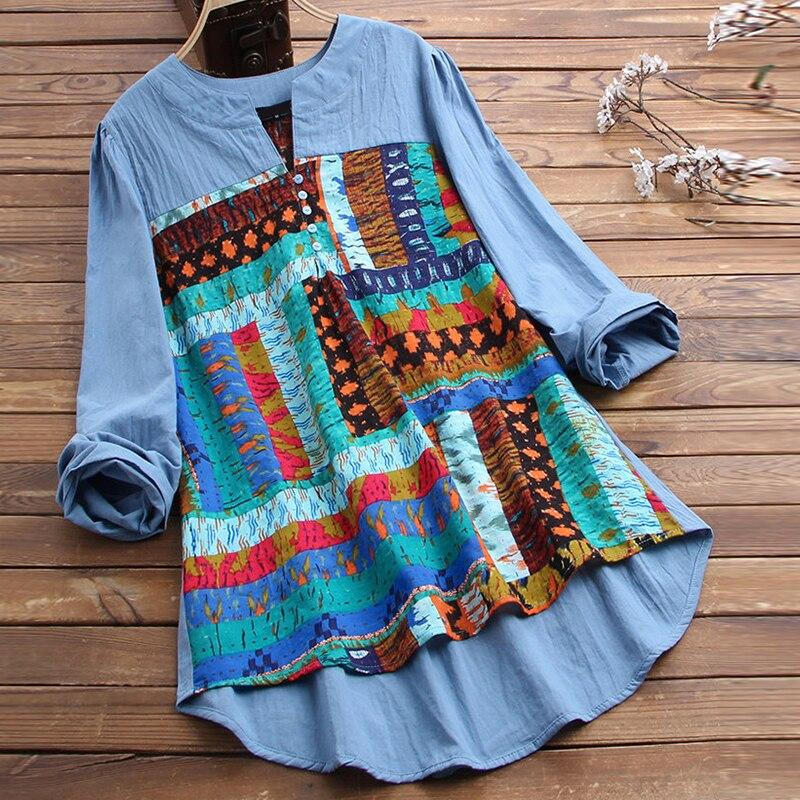 Vintage Printed Long Sleeve Shirt