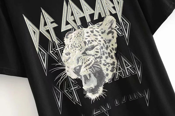 leopard graphic women new fashion T-shirts