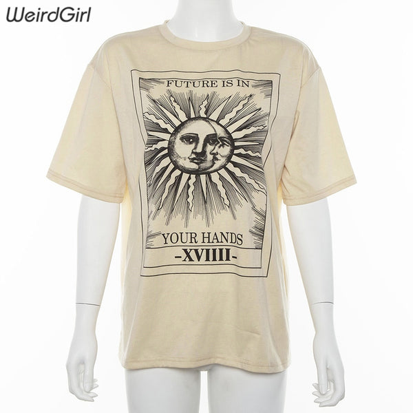 Weirdgirl women casual fashion t-shirt