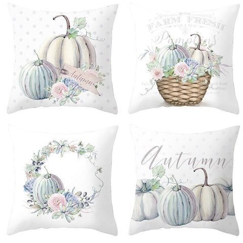 Home Sofa 4pcs Pumpkin Series Pillow Back Cushion Cover set of For Bedroom Home Office Decorative