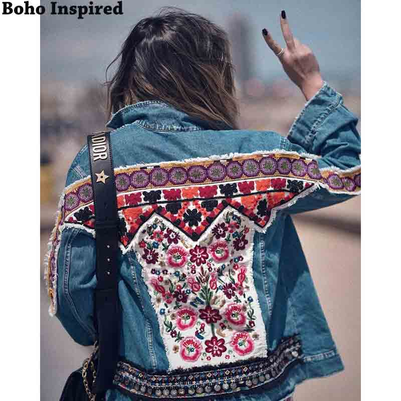 Embellished Denim jacket women 2020 autumn winter jacket