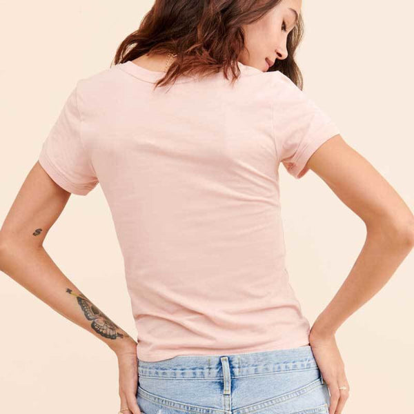 2020  Hot Sale Casual Womens Pink Grahpic T-Shirt
