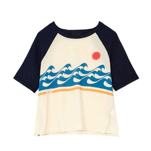 Women White Beach  New Cotton Casual T Shirts