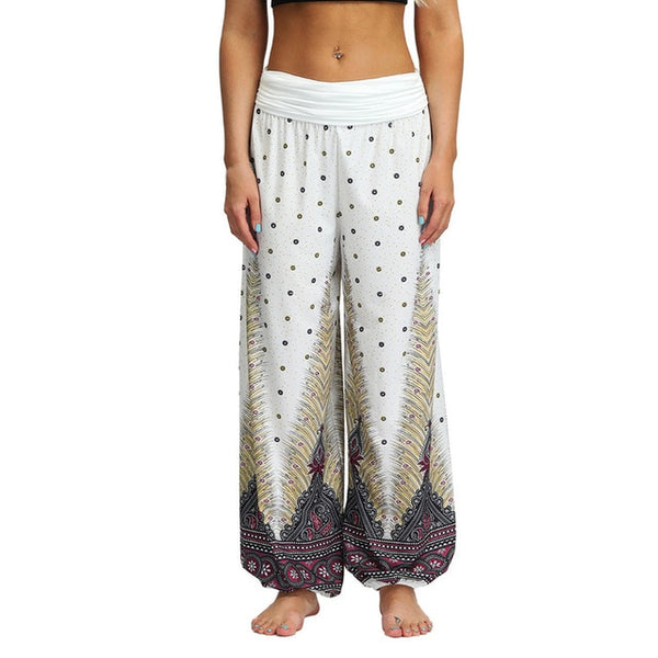 Women Casual Harem Boho Loose Hippy High Waist Pants