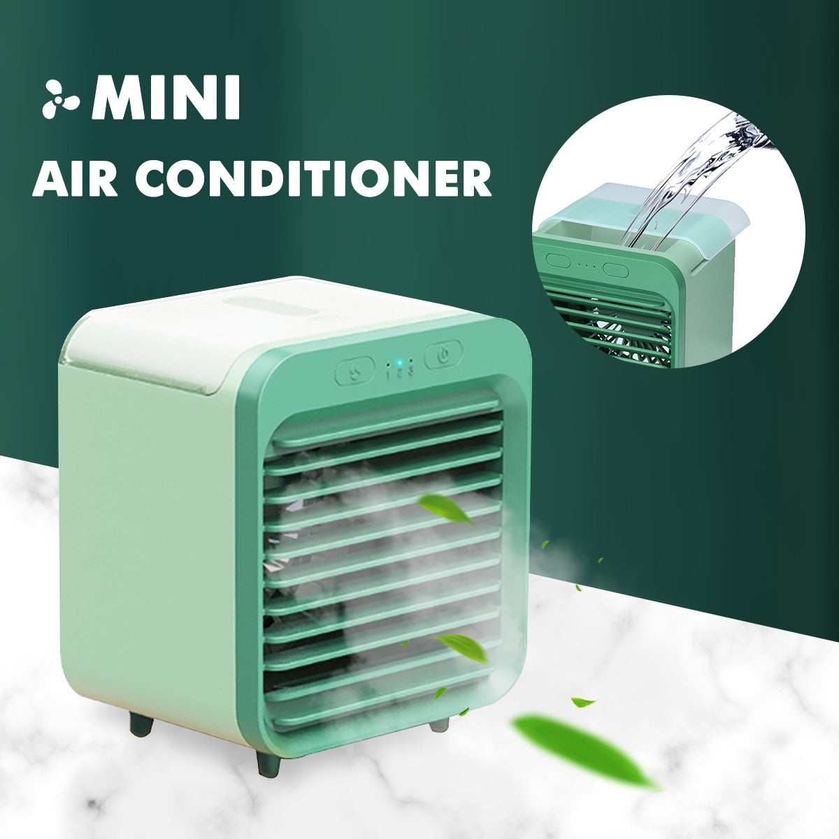 2020 Rechargeable Water-cooled Mini Portable Air Conditioner 3 Speeds Cooling
