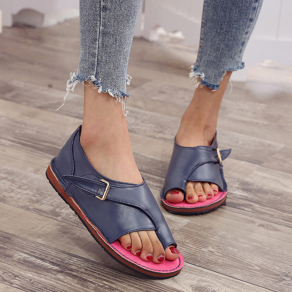 2020 Summer New Women Sandals Flat buckle Gladiator Ladies Rome Shoes