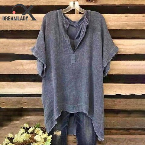 Women Hot Sale Linen Casual Blouse