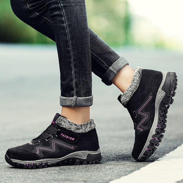 2020 New Winter Ankle Boots Women Snow Boots Warm Plush Platform Boot Rubber Work Boots
