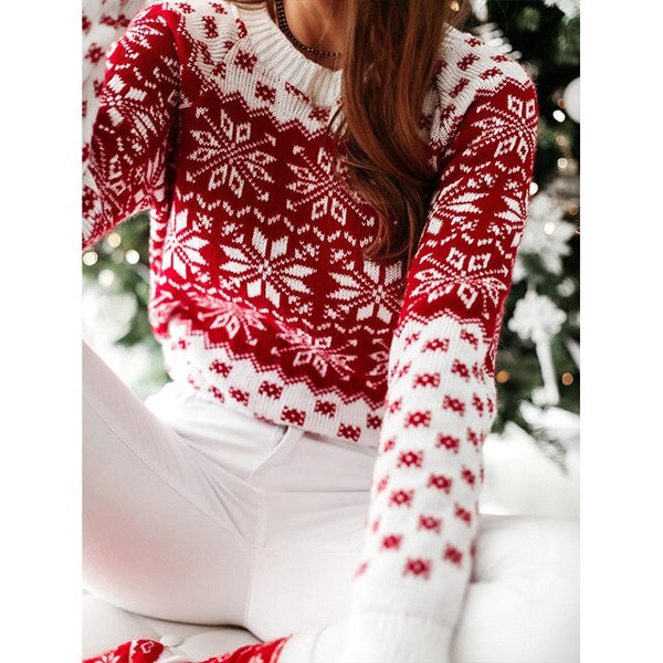 Christmas  New Style Snow Long-sleeved  Cold and Warm Sweater