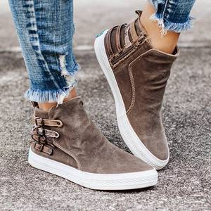 2020 autumn women ankle boots chaussure denim jean booties flat shoes