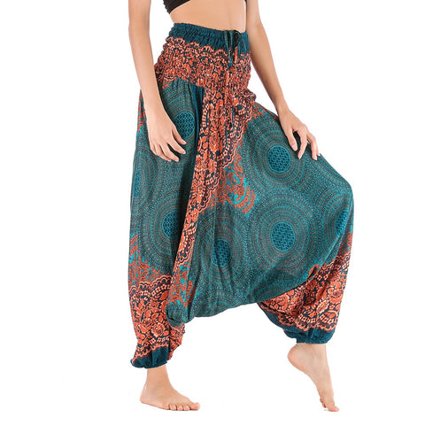 Women Casual Loose Baggy Boho  High Waist Gym Harem Pants