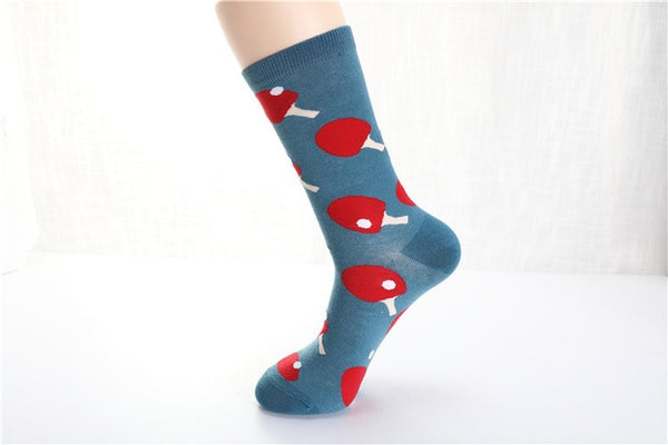 Women FW Cotton Euramerican National Wind Flowers Warm and Cute Socks