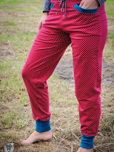 Women Polka Dots Printed Cozy Jogging Pants