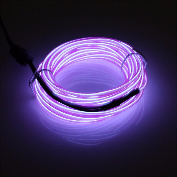 DIY LED Wire Rope Tube Cable Flexible Neon For Party Decoration Dance