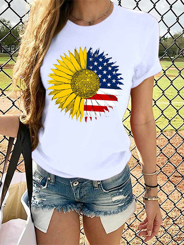 Women's National Flag Graphic Print T-shirt