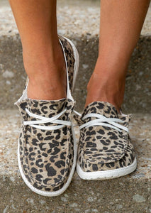 Summer Casual Cow Print Lace Up Sneakers