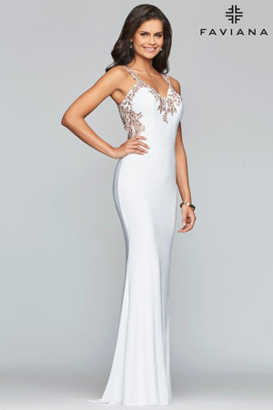 FAVIANA PROM DRESS #s7999