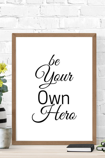 Motivational Quote Wall Art ( 6 Quotes )